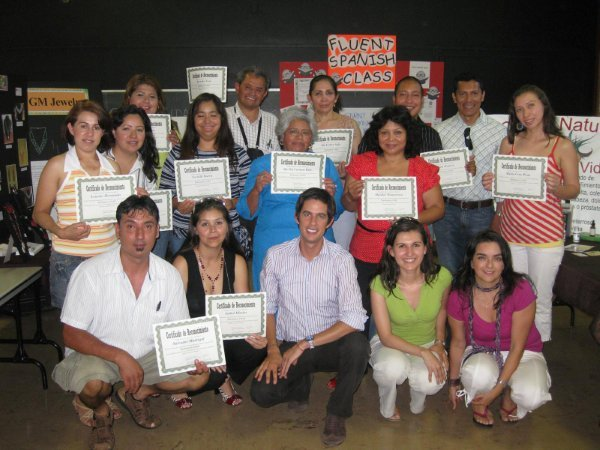Latino Business Basics Course Graduation, 2008