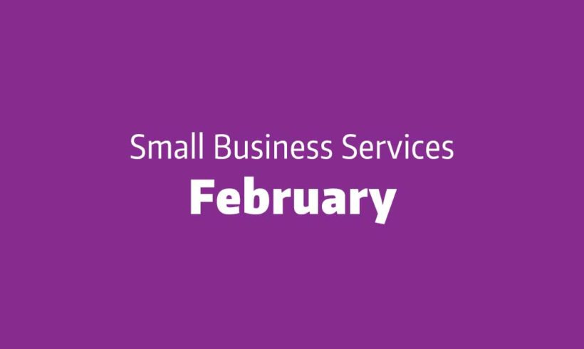 Upcoming Small Business Services