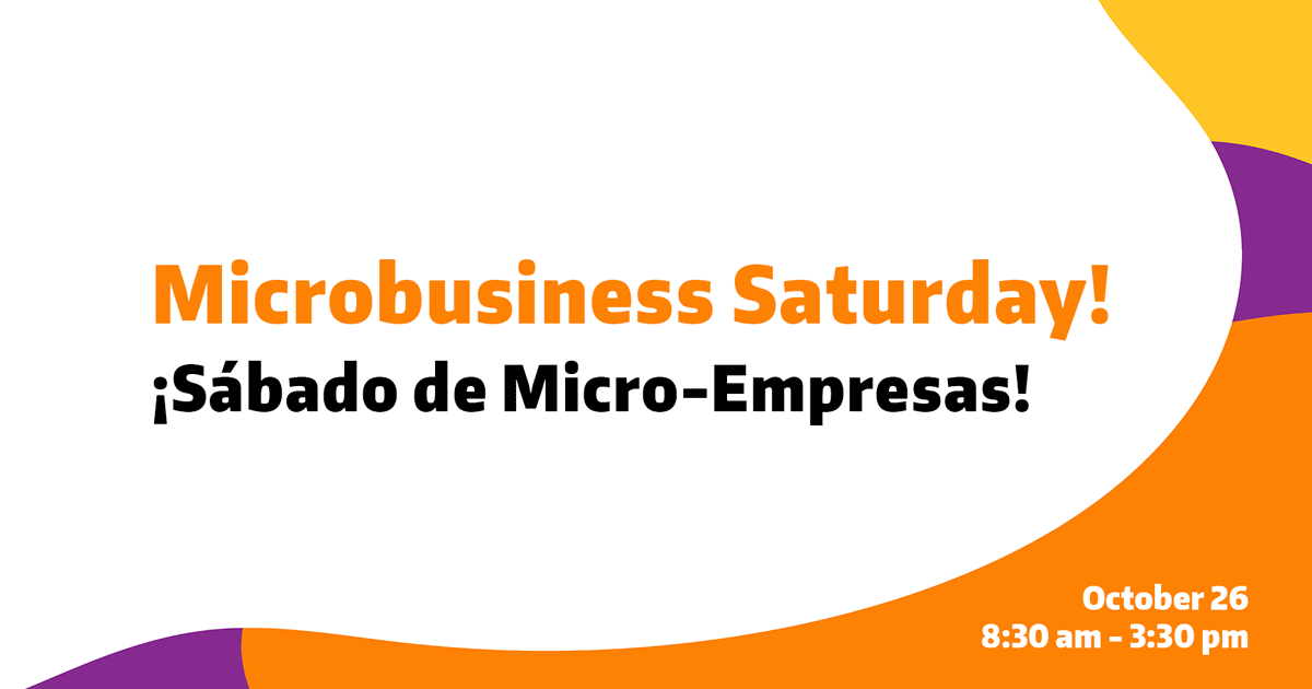 Microbusiness Saturday Workshop Schedule